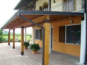 Pergole e pensiline in legno brescia edil garden for Disegni portico e prezzi